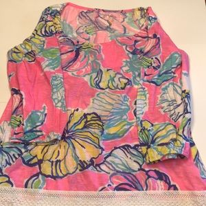 Lilly Pulitzer Top/Tunic/coveup XL